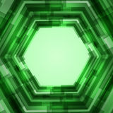 Abstract polygon text layout of green color Stock Photography