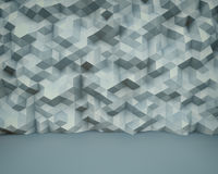 Abstract polygon wall 3D background Stock Photography