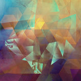 Abstract polygonal artwork. Abstract polygonal mixed media artwork created by combining different layers of paint and textures Royalty Free Stock Images