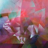 Abstract polygonal artwork. Abstract polygonal mixed media artwork created by combining different layers of paint and textures Royalty Free Stock Photos