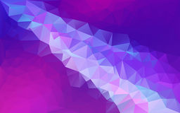 Abstract polygonal background - blue / purple Stock Images