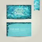 Abstract polygonal background for business card Stock Photo