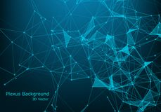 Abstract polygonal background with connected lines and dots. Minimalistic geometric pattern. Molecule structure and communication royalty free illustration