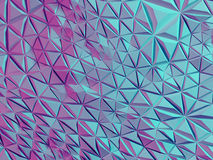 Abstract polygonal background. Abstract polygonal crystal 3d connection triangle geometric background Royalty Free Stock Photos