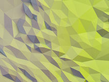 Abstract polygonal background. Abstract polygonal crystal 3d connection triangle geometric background Stock Photography