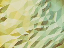 Abstract polygonal background. Abstract polygonal crystal 3d connection triangle geometric background Stock Photos