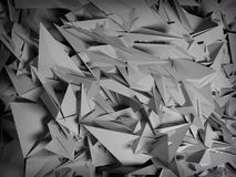 Abstract polygonal background. Abstract polygonal crystal 3d triangle geometric background Royalty Free Stock Photography