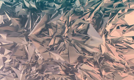 Abstract polygonal background. Abstract polygonal crystal 3d triangle geometric background Stock Photography