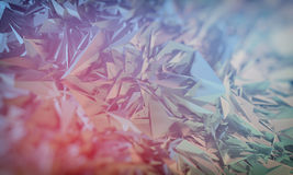 Abstract polygonal background. Abstract polygonal crystal 3d triangle geometric background Stock Image