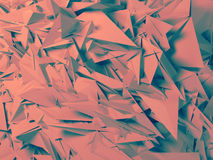 Abstract polygonal background. Abstract polygonal crystal 3d triangle geometric background Stock Photo