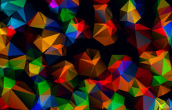 Abstract polygonal background. The effect of broken glass Stock Photography
