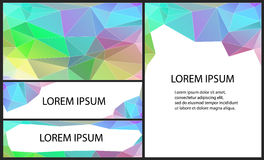 Abstract polygonal background. Abstract geometric background with polygons for design Royalty Free Stock Image