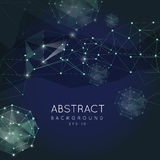 Abstract polygonal background. Low poly design royalty free illustration