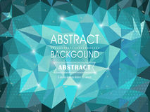 Abstract polygonal background for poster template Stock Photo