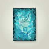 Abstract polygonal background for poster template Royalty Free Stock Photography