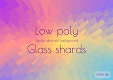 Abstract polygonal background scattering shards of multi colored glass. Geometric triangles textured vector royalty free illustration