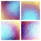 Abstract polygonal background. Set of abstract geometric multicolor background with triangular polygons Stock Photography