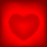Abstract polygonal background with shaped heart. Stock Image