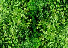 Abstract Polygonal Background Texture Green Foliage stock illustration