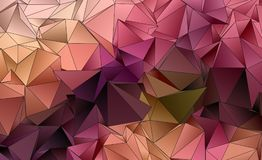 Abstract polygonal background. Triangulated texture Stock Photography