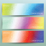 Pastel modern banner background set Stock Image