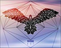 Abstract polygonal bird Royalty Free Stock Photos
