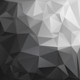 Abstract Polygonal Black And White Tone Background. Stock Image