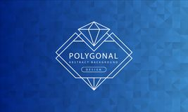 Abstract polygonal blue background texture, blue textured, banner polygon backgrounds, vector illustration stock illustration