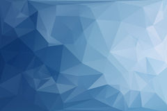 Abstract Polygonal Blue Tone Background. Royalty Free Stock Photos