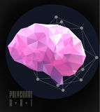 Abstract polygonal brain Royalty Free Stock Photography