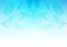 Abstract polygonal bright background with connecting dots and lines. Vector illustration of a glowing summer time background Stock Images