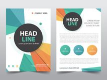 Abstract polygonal brochure poster,flyer annual report template in a4 size, presentation template. Set Stock Illustration