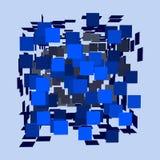 Abstract polygonal broken 3d cube. Royalty Free Stock Photo