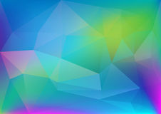 Abstract polygonal colorful light Stock Images