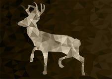 Abstract polygonal deer, vector illustration Stock Photos