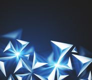 Polygonal diamond wallpaper. Abstract polygonal diamond wallpaper. Art and design concept. 3D Rendering vector illustration