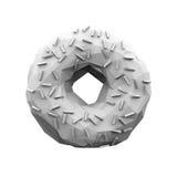 Abstract Polygonal Doughnut. Illustration Royalty Free Stock Photography