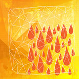 Abstract polygonal with drops and lines Royalty Free Stock Image