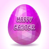 Abstract polygonal Easter egg Stock Image