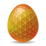 Abstract polygonal Easter egg Stock Images