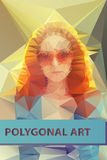 Abstract polygonal face. Triangles portrait for Stock Image