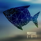 Abstract polygonal fish. Low poly illustration. Creative poster Royalty Free Stock Photo