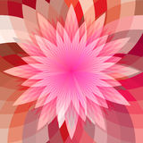 Abstract polygonal flower Stock Photography