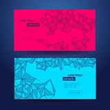 Abstract polygonal futuristic geometric low poly design. Stock Images