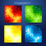 Abstract polygonal futuristic geometric low poly design. Stock Photos