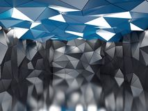 Polygonal futuristic hall Royalty Free Stock Photos