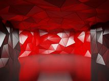 Polygonal futuristic hall Stock Images