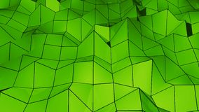 Abstract Polygonal Geometric backdrop. Digital background. 3d rendering Stock Photography
