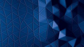 Abstract Polygonal Geometric background blue color Royalty Free Stock Photo