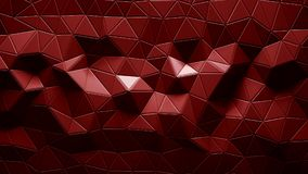 Abstract Polygonal Geometric background red color. 3d rendering Stock Photos